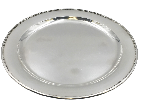 Georg Jensen Hammered Sterling Silver Platter / Tray/ Plate in Pattern 210C