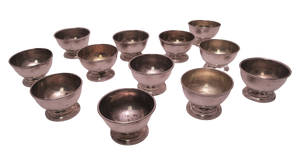 Twelve Tiffany & Co. Salt Cellars in Sterling Silver With Gold Wash