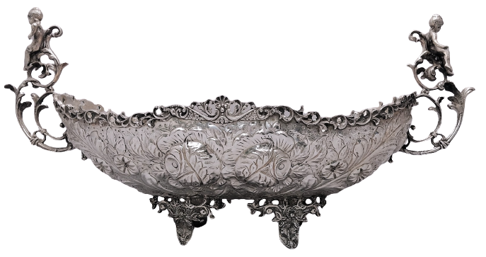 Grand Continental European Silver Centerpiece
