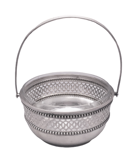 Continental Silver Pierced Bridal Basket / Bowl