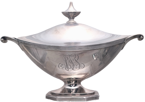 Gorham Sterling Silver Gravy Sauce Boat Tureen in Georgian Style