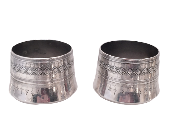 Pair of Whiting & Co Sterling Silver Planters / Vases