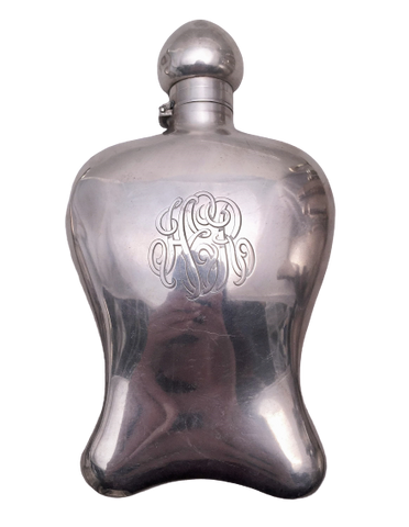 Sterling Silver Flask in Unique Form
