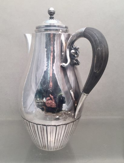 Georg Jensen Sterling Silver Coffee/ Tea Pot in the Cosmos Design 45A