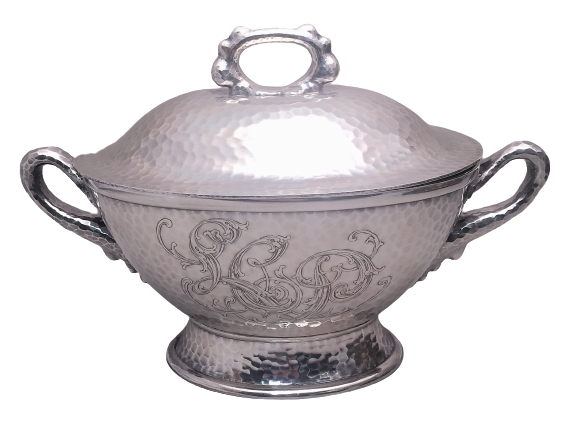 Tiffany & Co Hand Hammered Japanesque Tureen With Handles