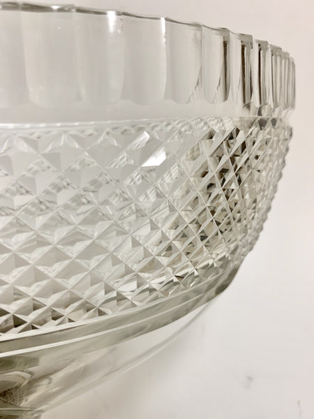 Pair of Cut Glass Compote Bowls on Silver Pedestal