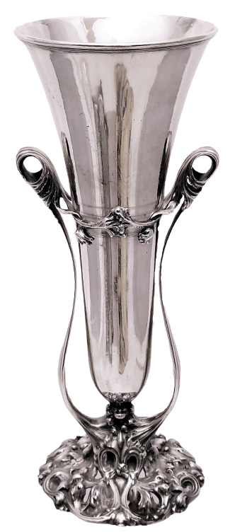 Silver Vase with Stand by Whiting in Art Nouveau Style