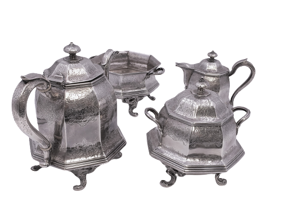American Coin Silver 4-Piece Tea/Coffee Service