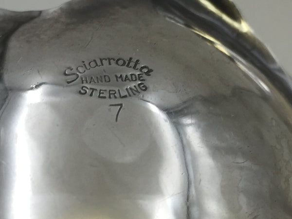 Sterling Silver Centerpiece Bowl with Ladle by Sciarrotta
