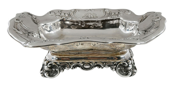 Possibly Gorham Chantilly Sterling Silver Art Nouveau Centerpiece/ Bowl in Art Nouveau Style
