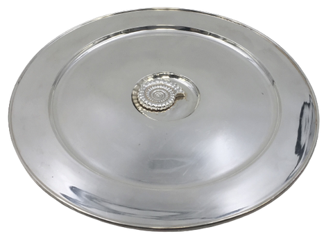 Sterling Silver Dish / Tray by Jocelyn Burton with Center Snail Design