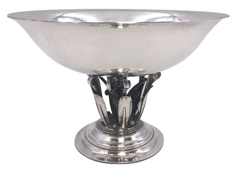 Georg Jensen Sterling Silver Footed Bowl / Centerpiece in Pattern 171