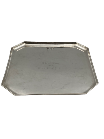 Handwrought Sterling Silver Square Platter / Tray by The Kalo Shops