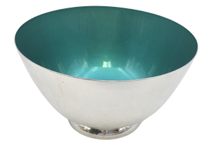 Sterling Silver and Enamel Centerpiece Bowl by Towle