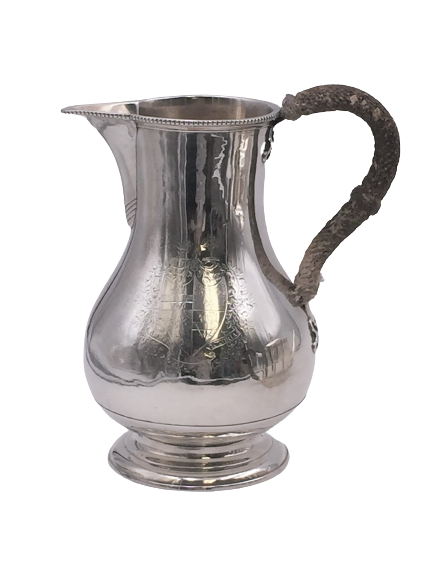 Georgian or Scottish Sterling Silver Beer Pitcher