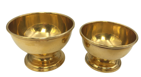 Pair of Tiffany & Co. Gilt Sterling Silver Candy / Nut Dishes / Bowls