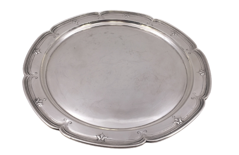 Shreve Sterling Silver Bar Tray/ Dish/ Plate in Art Moderne Style from the 1920s