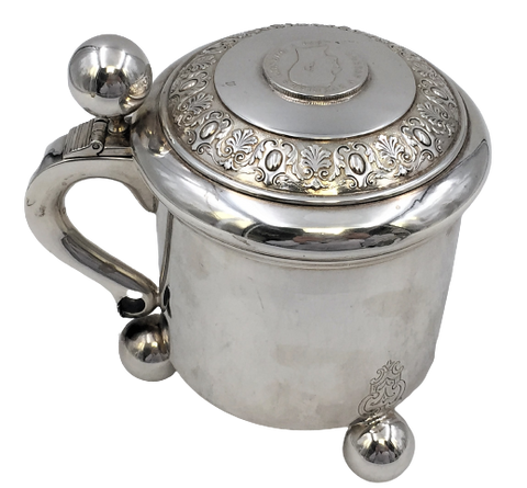 Swedish Silver Tankard / Covered Mug by GAB (Guldsmedsaktiebolaget)