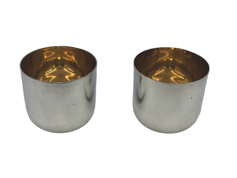 Pair of Gilt Sterling Silver Cups by Buccellati