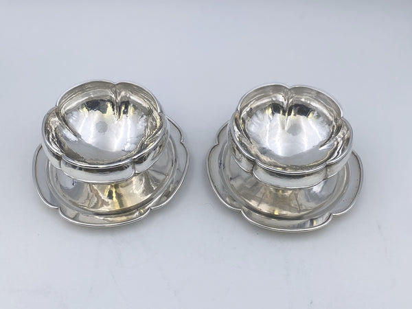 Pair of Hand Hammered Mayonnaise Centerpiece Bowls by the Kalo Shops in Arts & Crafts Style