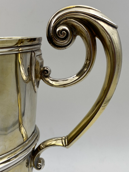 Large Scottish Gilt Sterling Silver Two-Handled Trophy Cup by Wilson & Sharpe