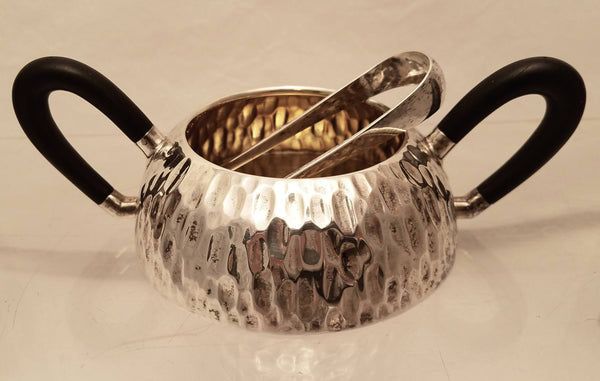 5-Piece Hand Hammered Austrian Continental Silver Tea / Coffee Set