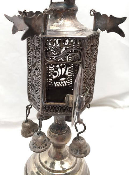 Russian Judaica Sterling Silver Spice Tower / Besamim Box