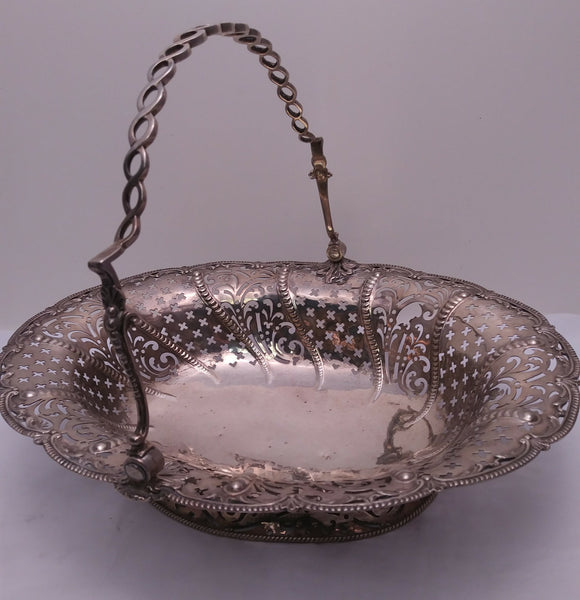 Sterling Silver Piercework Basket by Plummer from 1761