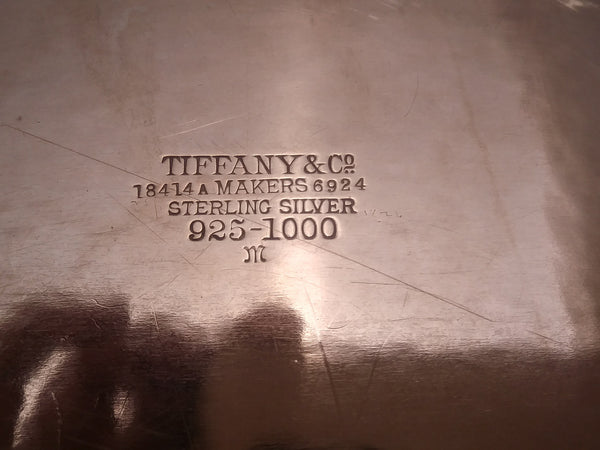 Tiffany & Co. Hammered Sterling Silver Oval Serving Platter/ Tray