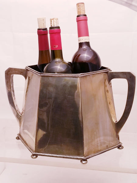 German Silver Wine Cooler With Handles