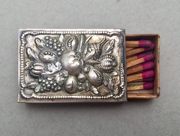 Set of 12 German Silver Matchbox Set with Trays