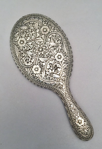 Persian Pattern Silver Hand Mirror