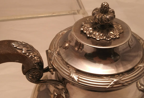 French Turn-of-the-Century 4-piece Silver Tea & Coffee Service / Set