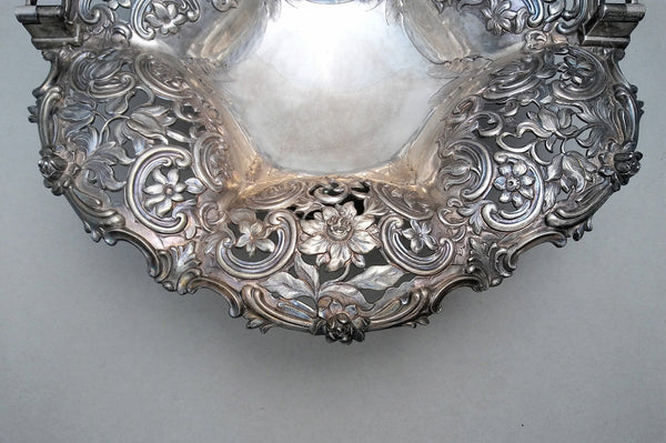 Sterling Silver English Basket in Victorian Style
