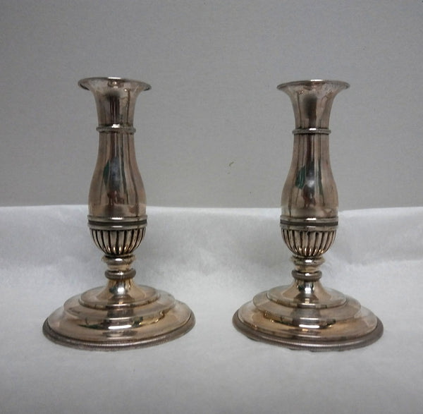 Pair of Continental Silver Candlesticks by Gerike