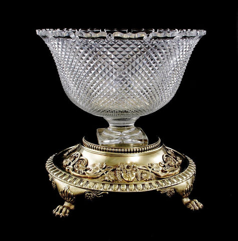 Paul Crespin Regency Crystal Silver-Gilt 1809 Centerpiece