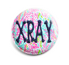 Crazy Coral INTERCHANGEABLE EMBROIDERED button