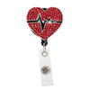 Cardiac Heart Sparkle and Shine Rhinestone Badge Reel