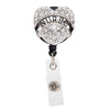Quartz Nurse Heart Sparkle and Shine Rhinestone Badge Reel