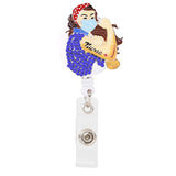 Rosie the Nurse Sparkle Badge Reel