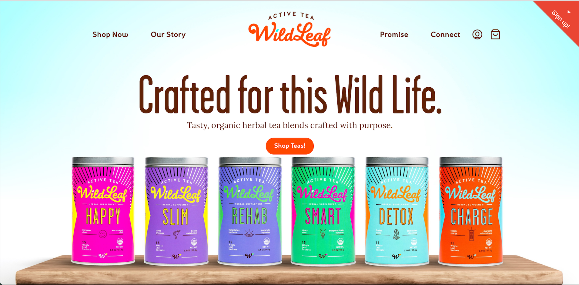 Wild Leaf Tea - Example of Beautiful Ecommerce Product Photography