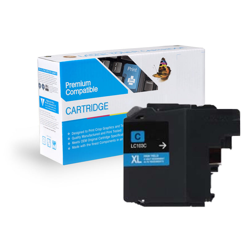 BROTHER LC103C COMPATIBLE INK CARTRIDGE - CYAN