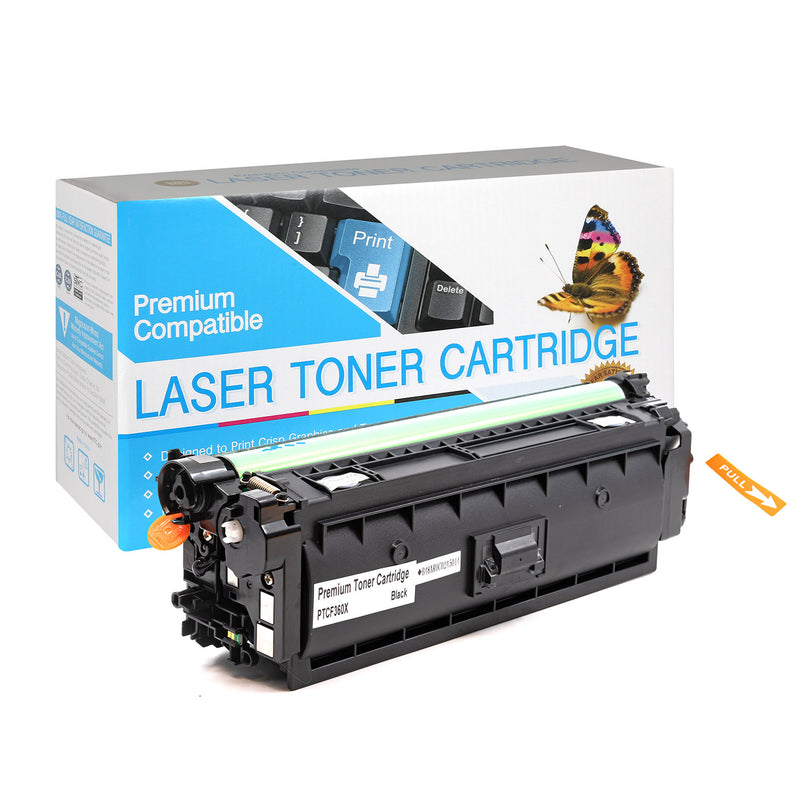 HP CF360X, 508X High Yield Compatible Toner-Black