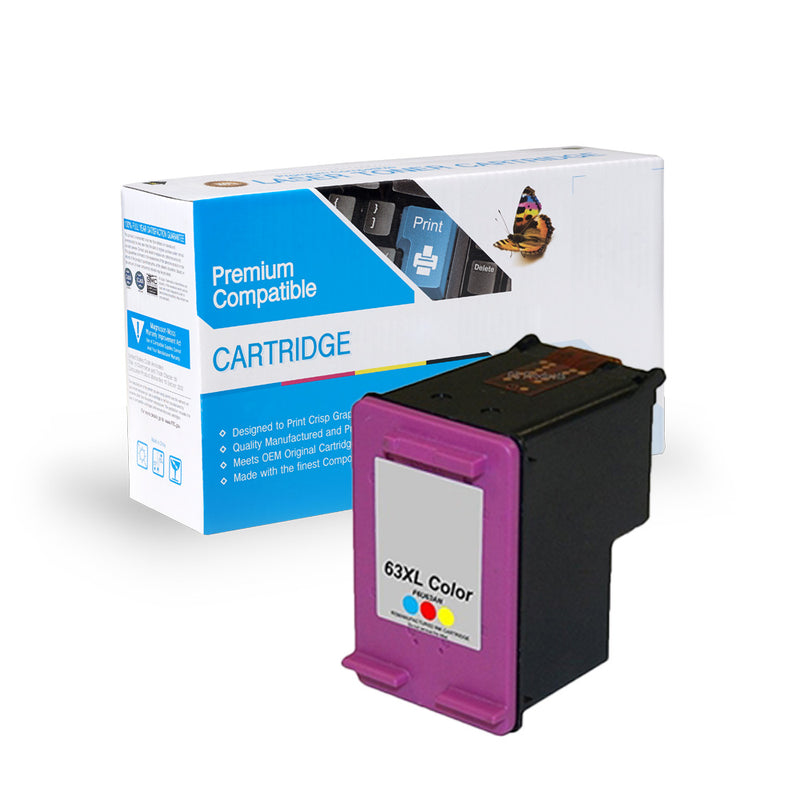 HP F6U63AN, 63XL REMANUFACTURED INK- TRI-COLOR
