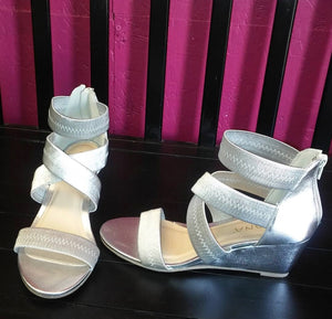 Rouge-1 Silver Wedge Sandals