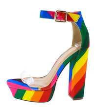 Load image into Gallery viewer, Yuko-40 Rainbow Block Heel