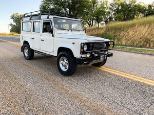 "SOLD! 1989 ""The Cypress"" Defender 110 Left Hand Drive"