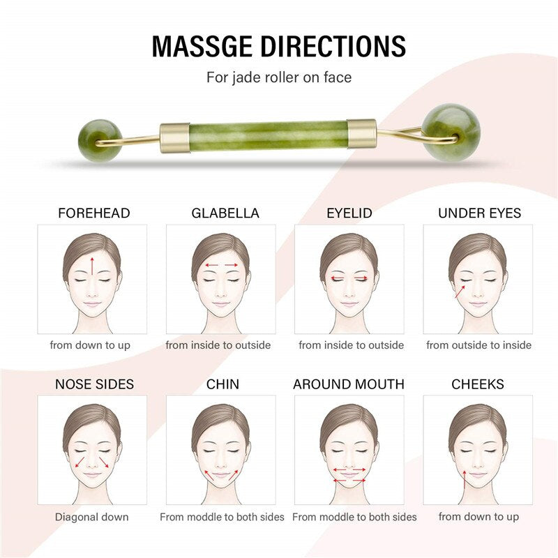 Jade Roller Face Massager (BUY 1 TAKE 2) - Veignity PH