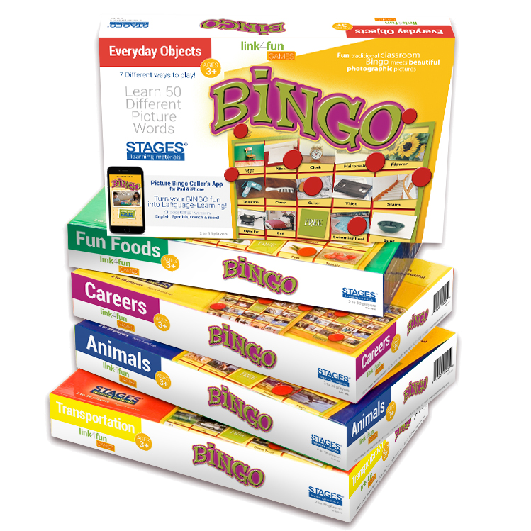Picture Recognition Bingo Games for Early Childhood