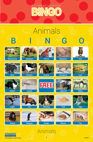 Animal Picture Bingo